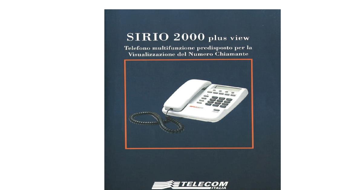 Sirio 2000 plus view manuale istruzioni for Cronotermostato perry istruzioni