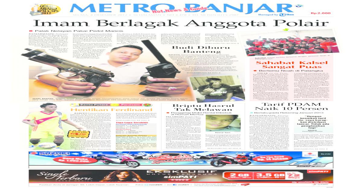 Metro banjar edisi Selasa 4 Desember 2012