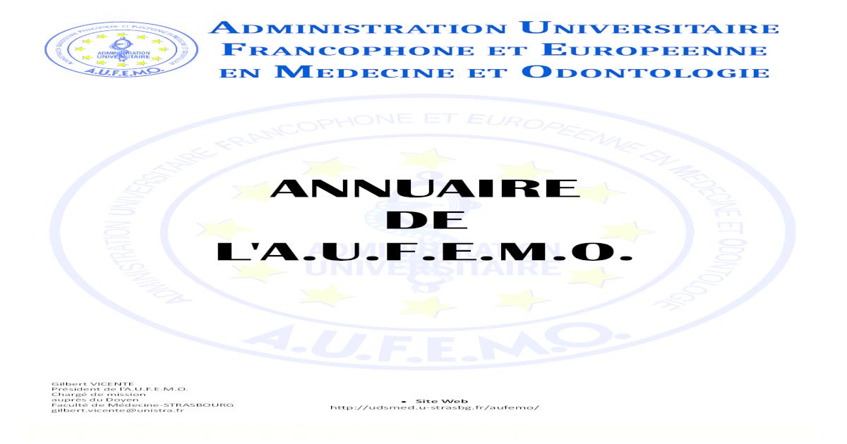 Annuaire De Laufemo Complet