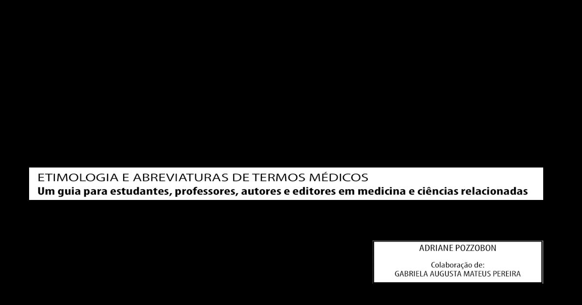 Etimologia e Abreviatura de Termos Medicos