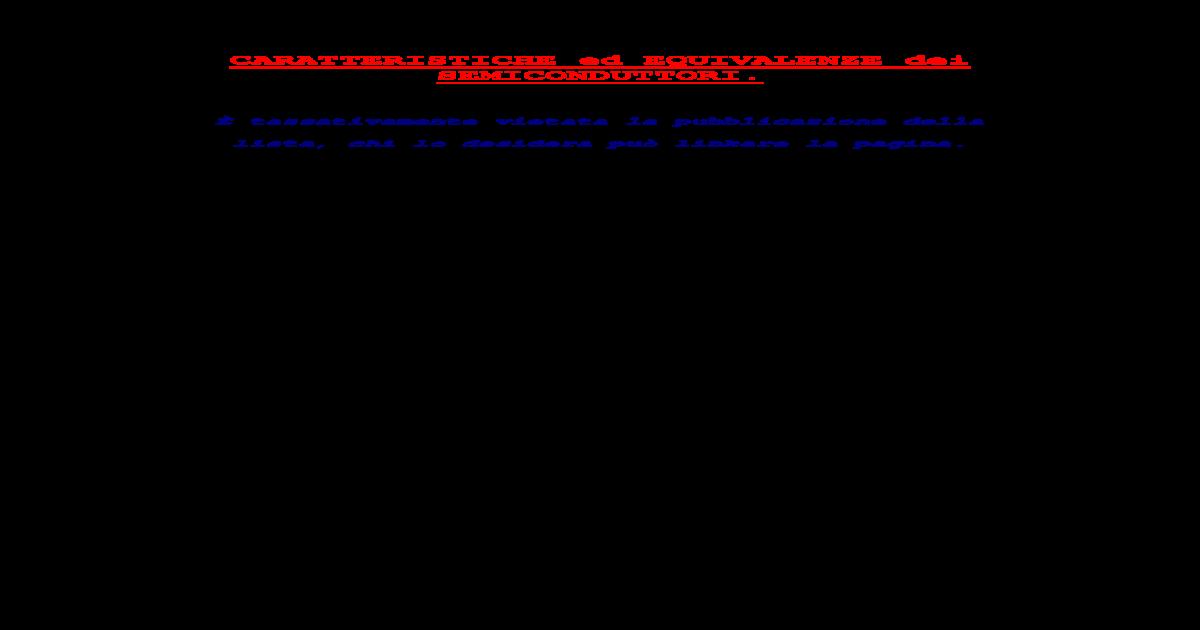 Equivalencia Transistor